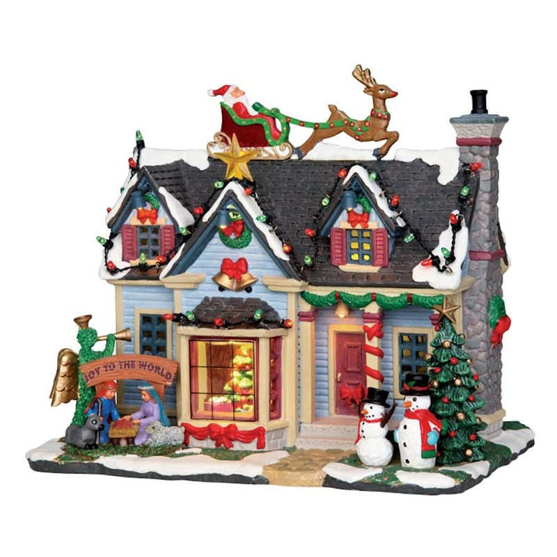 lemax christmas village best decorated house building with 45v adapter 25337 - Lemax Christmas Village