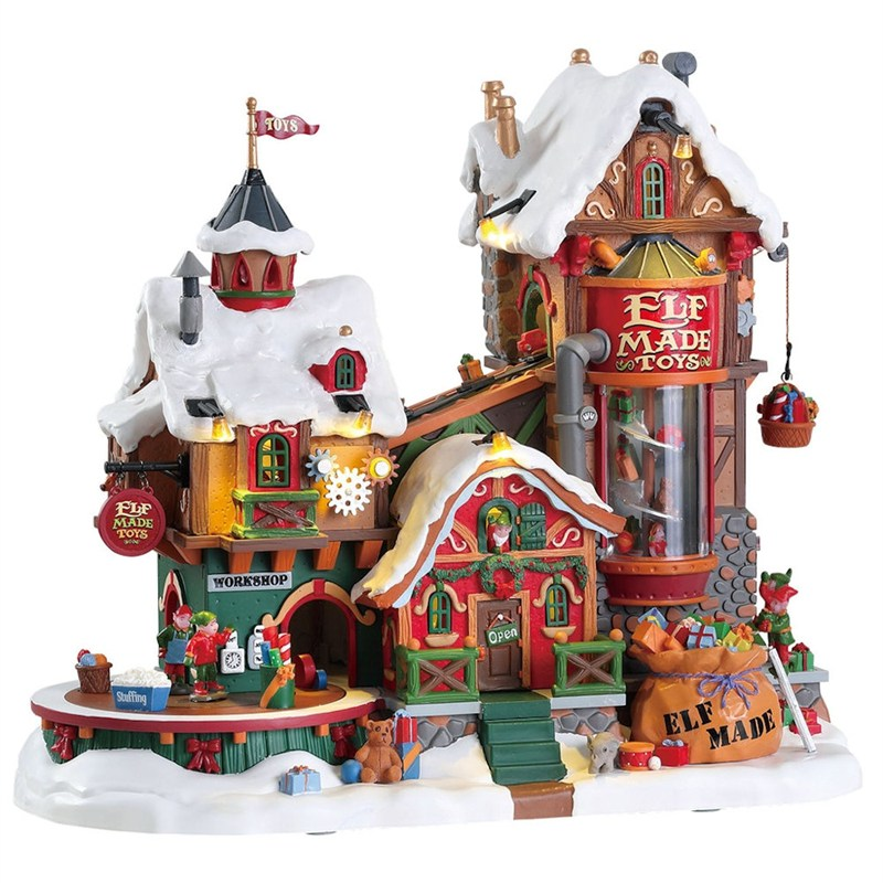 Lemax Christmas.Lemax Christmas Village Elf Made Toy Factory 4 5v Adapter 75190