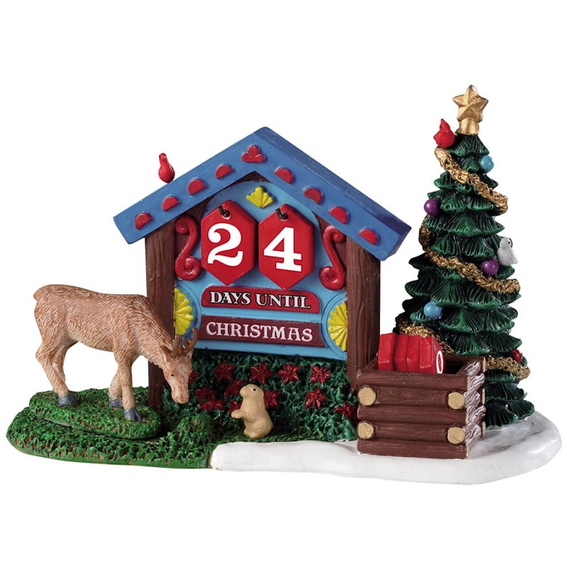 Lemax Christmas.Lemax Christmas Village Woodland Countdown Table Piece 93436