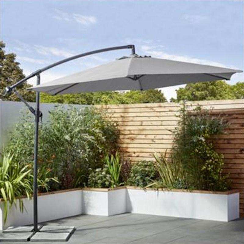 Lifestyle Garden Cantilever Aluminium Steel 3m Outdoor Garden Furniture Parasol