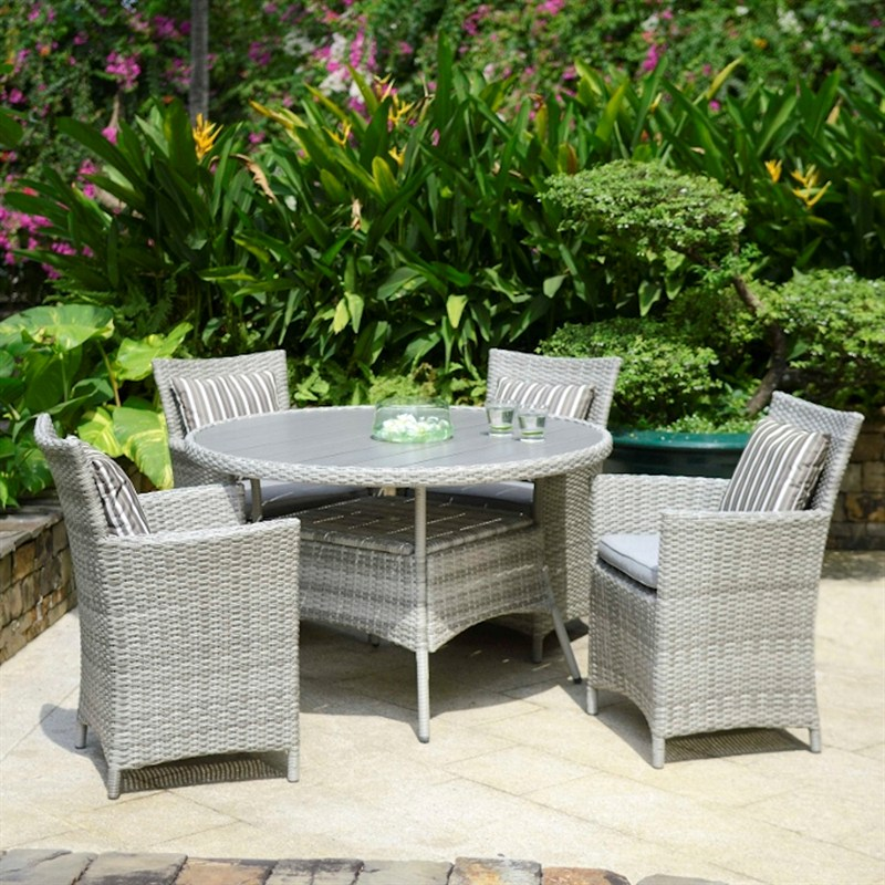 Lifestyle Garden Aruba 4 Seat Outdoor Garden Furniture Dining Set