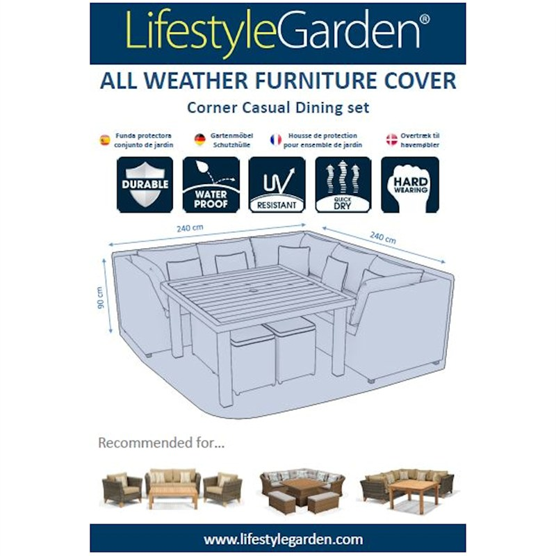 Lifestyle Garden Weather Proof Cover For Casual Dining Cover 240 X 240cm