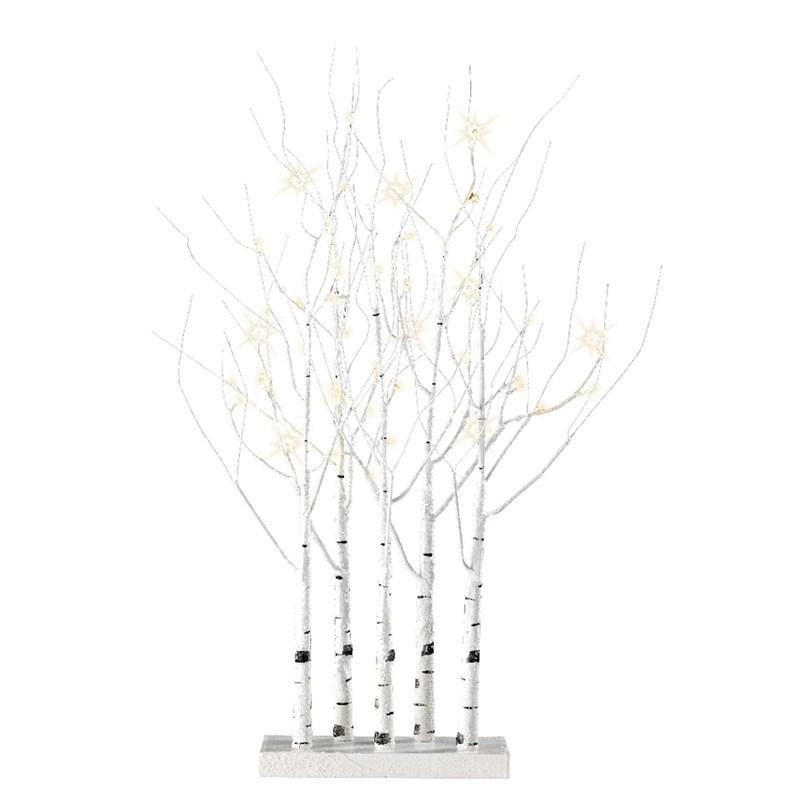 Lumineo Led Birch Tree Grove 90cm Warm White Christmas
