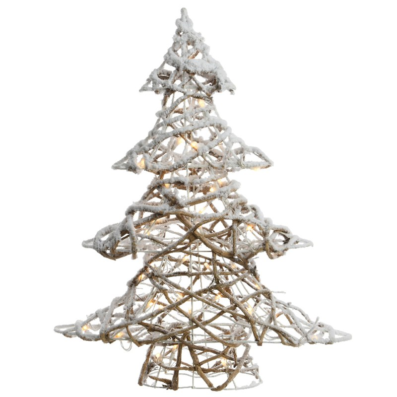 White Christmas Tree.Lumineo Led Twisted Tree With Snow 60cm Warm White Christmas Lights 541166