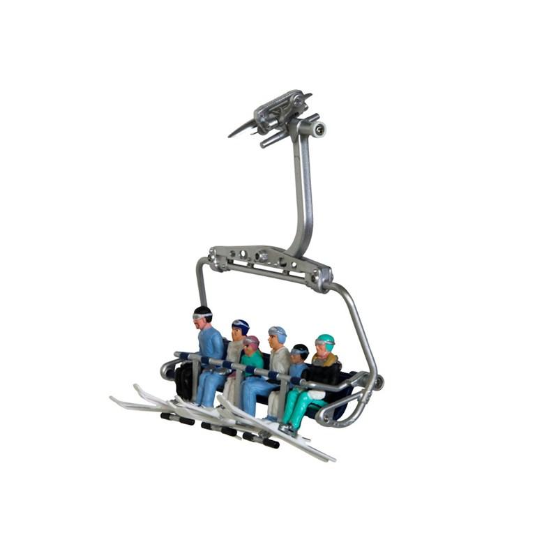 Christmas Village Ski Lift.My Village Christmas Village Figurines Sitting On Ski Lift Jc54200