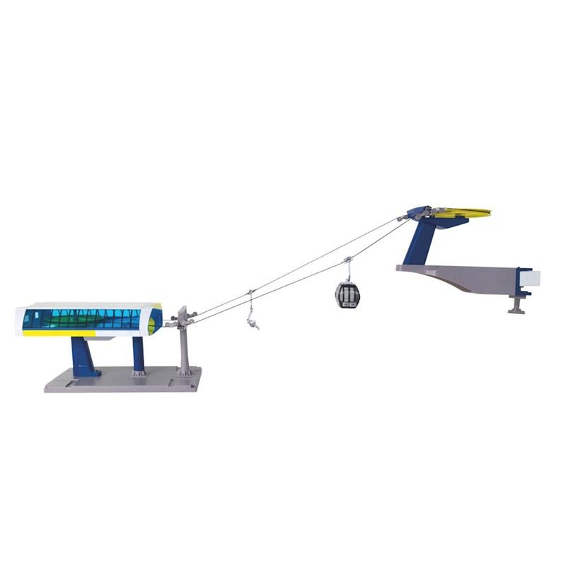 Christmas Village Ski Lift.My Village Christmas Village Ski Lift Luxe Accessories Blue Yellow Jc84393
