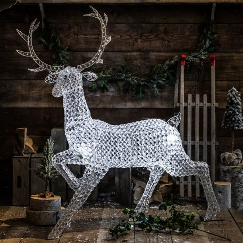 Noma Christmas Decorations: Noma Northern Lights Jewelled Christmas Stag Light Up