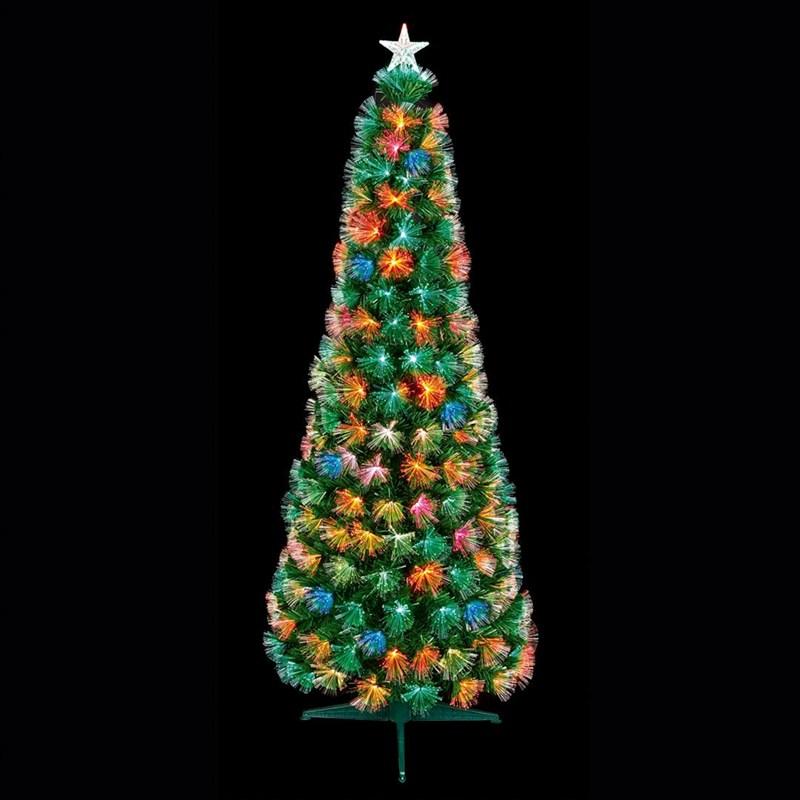 Fiber Optic Christmas Tree.Premier 1 2m Slim Flashing Fibre Optic Christmas Tree With Multi Colour Leds Ft183129