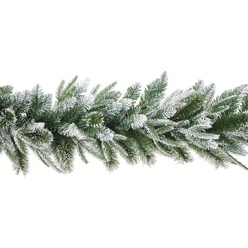 Premier 1 8m Fairmont Fir Artificial Christmas Garland With Silver Glitter Tg199185