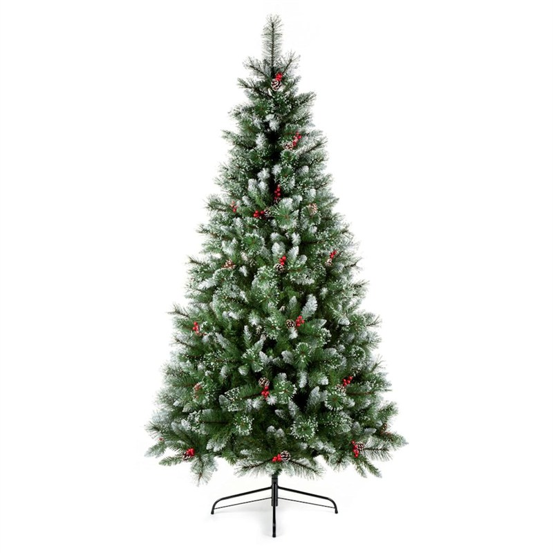 Christmas Tree With Pine Cones And Berries: Premier 2.4m Sugar Pine Iced Tipped Christmas Tree With