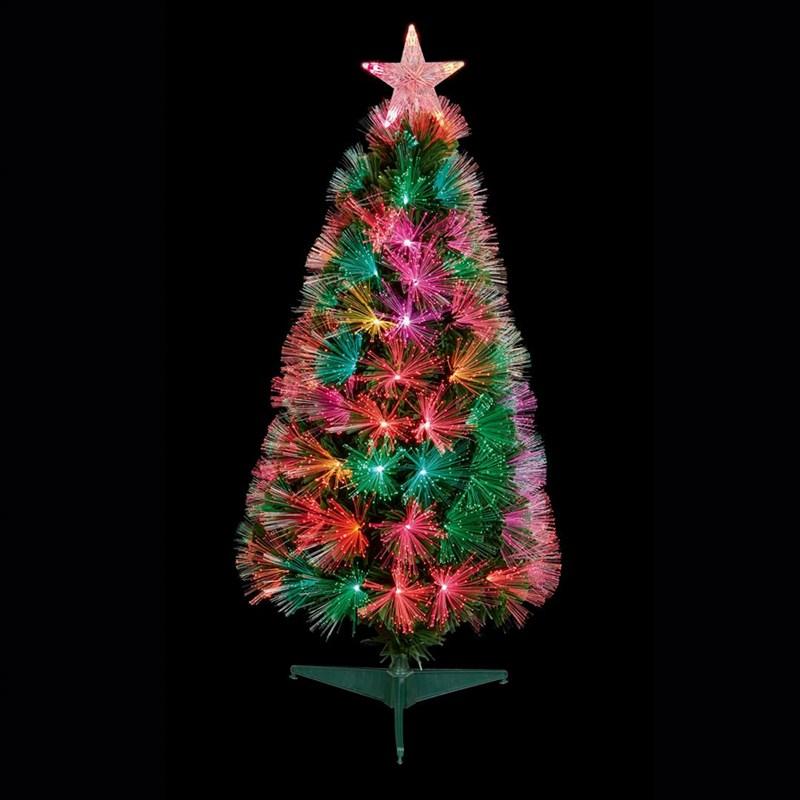 Fiber Optic Christmas Tree.Premier 80cm Slim Flashing Fibre Optic Christmas Tree With Multi Colour Leds Ft183128
