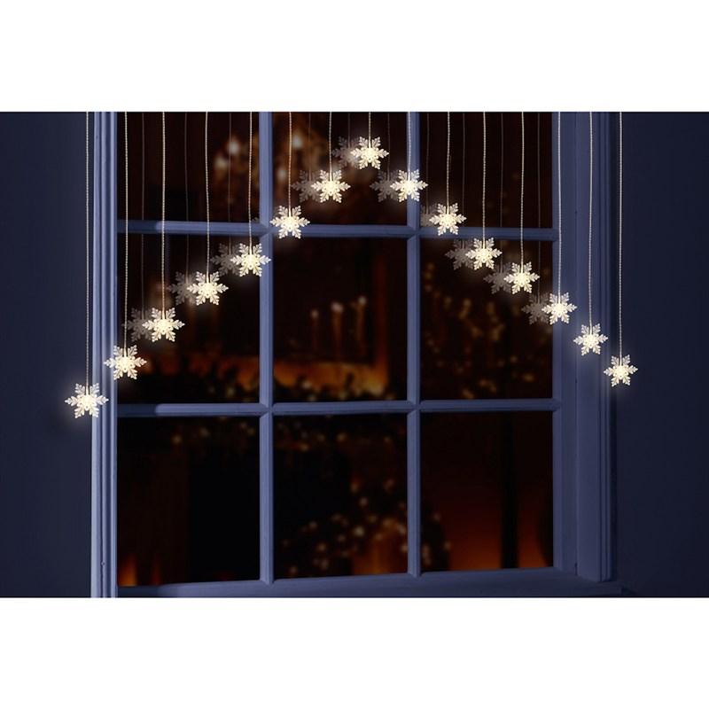 Snowflake Christmas Lights.Premier Snowflake Christmas Curtain Lights With Warm White Leds Lb152062ww