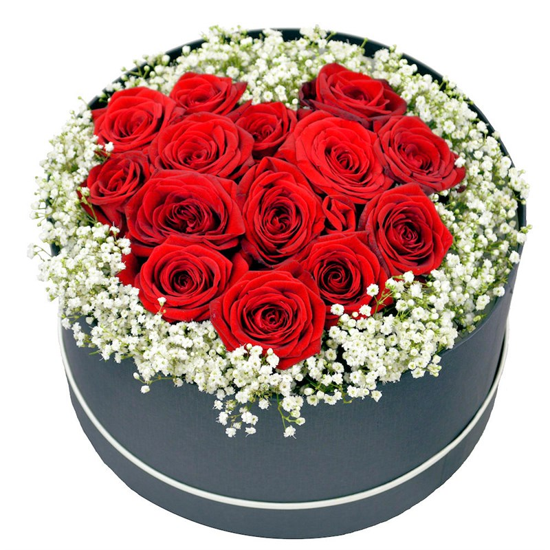 Rose Heart Valentine S Day Arrangement In A Box