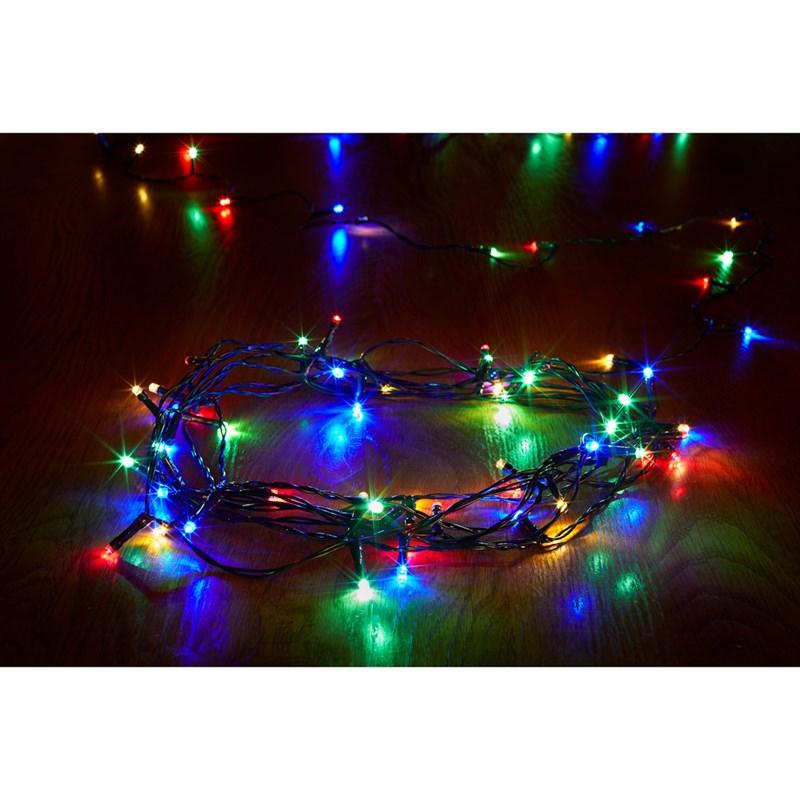 Smart Garden 100 Led String Battery Operated Christmas Lights Multi Coloured 3121005