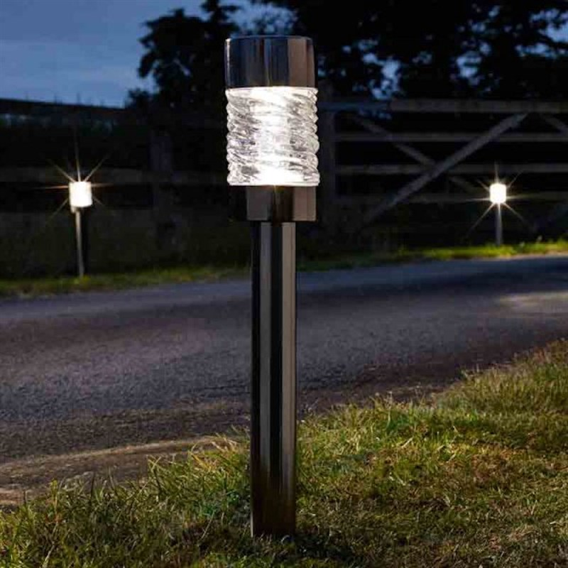 Solar Lights Home Bargains: Smart Garden Martello Nickel Stake Light 5L Super Bright