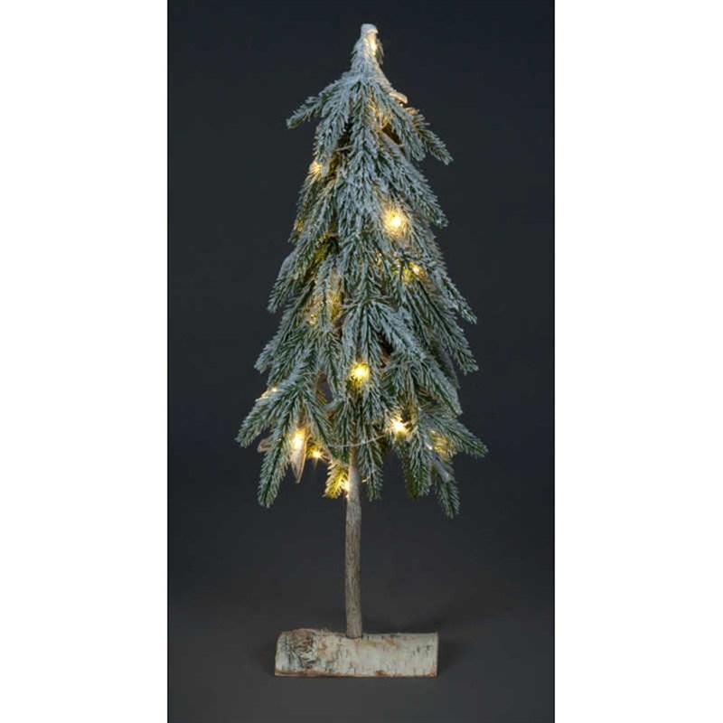 Snowtime Pre Lit Christmas Tree Decoration Warm White Leds 60cm Ct08101