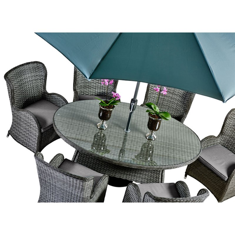 Supremo Palermo 6 Seat Oval Dining Outdoor Garden