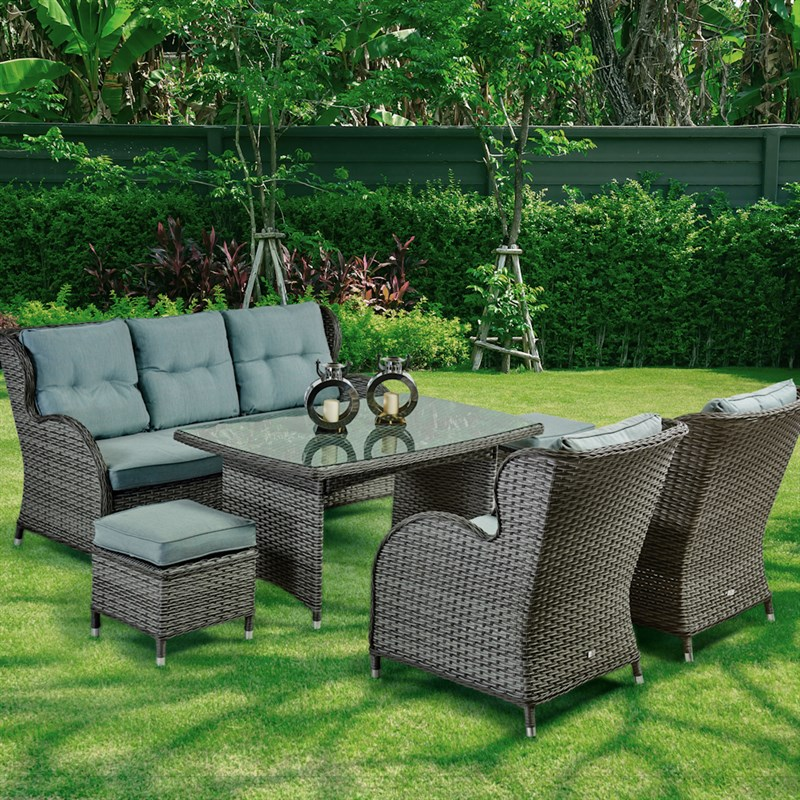 Supremo Palermo Lounge Outdoor Garden Furniture Dining Set ...