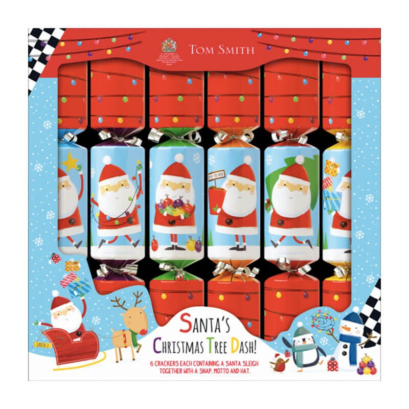 Christmas Crackers Cartoon.Tom Smith 6 X 12in Novelty Santa Race Game Christmas Crackers Xagts4501