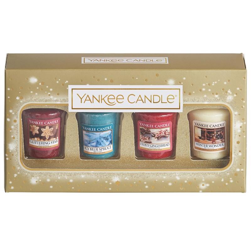 Yankee Candle Christmas Gift Set Holiday Sparkle Votive 1599947