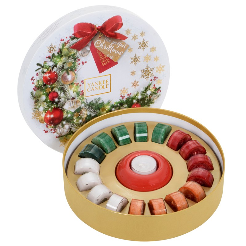 Yankee Candle Christmas Tealight Wreath Gift Set With 18 Tealights 1561235